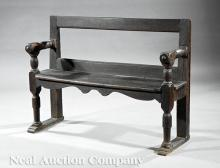 Pair of Continental Oak Benches