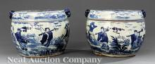 Chinese Blue and White Porcelain Storage Bowls