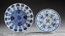 Chinese Export Blue and White Porcelain Dishes