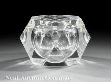 Faceted Acrylic Ice Bucket, prob. Albrizzi