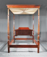 American Federal-Style Mahogany Tester Bed