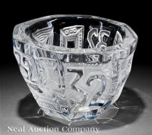 Lalique Clear and Frosted Glass Center Bowl