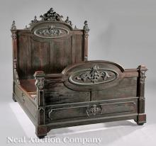 Carved Rosewood Bedstead attr. Jelliff