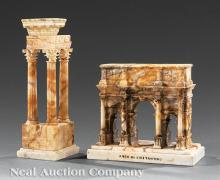 Two Grand Tour Alabaster Models
