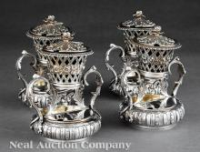 Robert Hennell Sterling Silver Condiment Stands