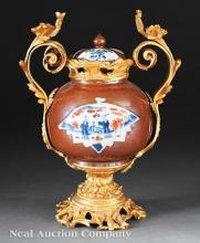 Gilt Bronze-Mounted Chinese Export Porcelain Jar