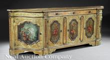 Venetian-Style Painted Credenza