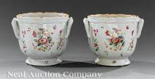Chinese Export Famille Rose Porcelain Cachepots