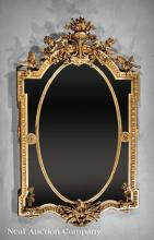 Louis XVI-Style Carved and Gilded Mirror