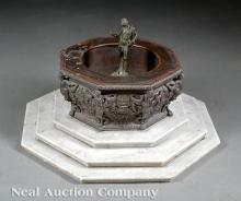 Italian Grand Tour Patinated Bronze Fountain