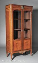 Mahogany and Fruitwood Marquetry Bibliothèque