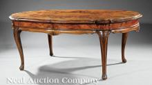 Italian Figured Olivewood Dining/Library Table
