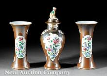 Chinese Export Porcelain Three-Piece Garniture