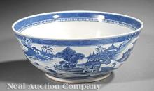 Chinese Export Blue & White Porcelain Centerbowl