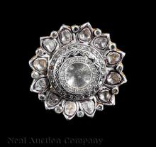 14 kt. Gold and Silver Topped Rose Diamond Ring