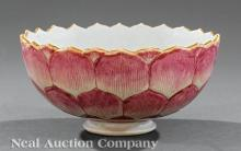 Chinese Famille Rose Porcelain Barbed Rim Bowl