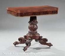 Classical Parcel Gilt, Carved Mahogany Work Table