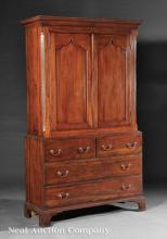 American Federal Cherrywood and Birch Linen Press