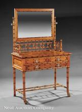 Maple Faux Bamboo Dressing Table, attr. Horner
