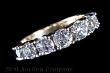 14 kt. White and Yellow Gold and Diamond Ring