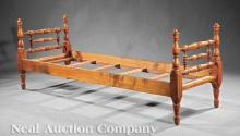 American Late Federal Curly Maple Daybed
