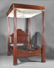 American Classical Walnut Tester Bed