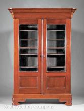 American Late Classical Carved Walnut Bookcase