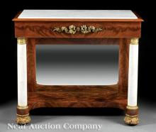 Classical Gilt Bronze-Mounted Mahogany Pier Table