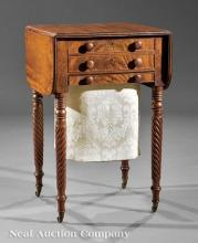 American Classical Carved Mahogany Work Table