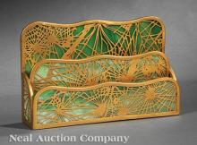 Tiffany Studios Art Nouveau Letter Holder