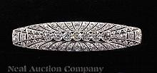 Tiffany & Co. Art Deco Platinum, Diamond Bar Pin