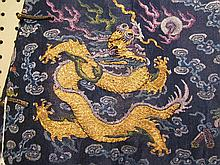 A Chinese Blue Gauze Summer Dragon Robe, Ji Fu