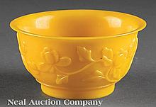 A Chinese Yellow Glass Bowl