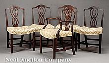 George III-Style Carved Mahogany Dining Chairs
