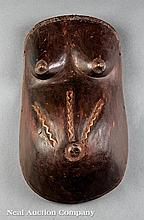 A Makonde Carved Wood Female Torso Mask