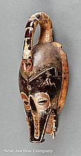 A Guro Polychrome Painted Carved Wood Mask