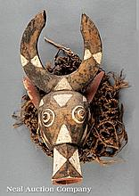 A Bwa, Nuna or Winiama Carved Wood Mask