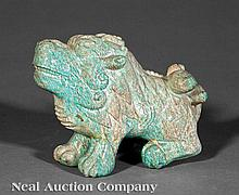 Southeast Asian Amazonite Buddhist Lion