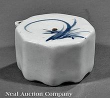 A Korean Blue and White Porcelain Water Dropper