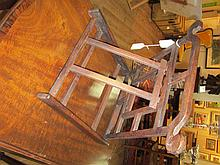 A Chinese Hardwood Folding Mirror Stand