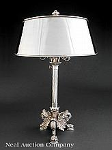 A  Silverplate Bouillotte Lamp