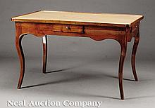 Louis XVI Carved Walnut Table de Jeu
