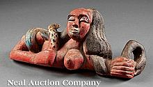 Mende Carved Wood Mami Wata Spirit Figure