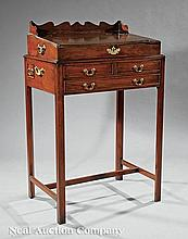 A George III Mahogany Writing Desk on Stand
