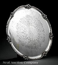 An English Silverplate Circular Tray