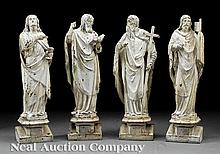 English Painted Cast Iron Ecclesitical Figures