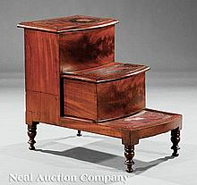 A Regency Mahogany Bed Step