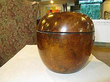 An English Apple-Form Tea Caddy