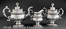 Taylor and HinsdaleCoin Silver Tea Service