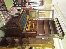 Gilt-Decorated Mahogany Secratery-Bookcase